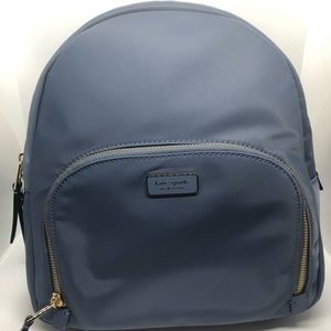 Kate Spade Nylon Blue Medium Backpack
